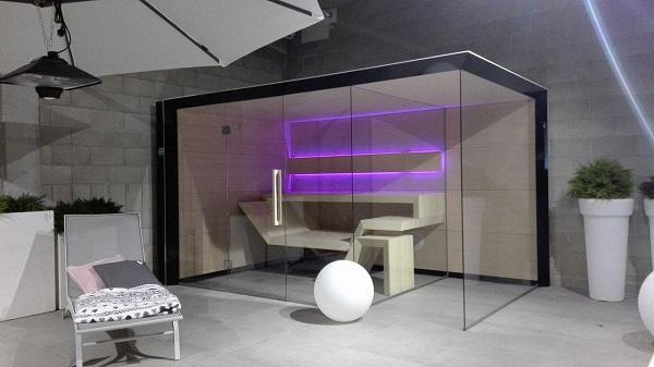 sauna modern line